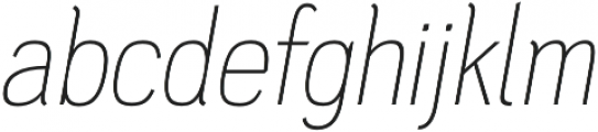 PC Navita Thin-Oblique otf (100) Font LOWERCASE
