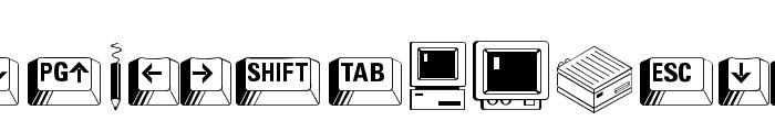 PC Keys Font UPPERCASE