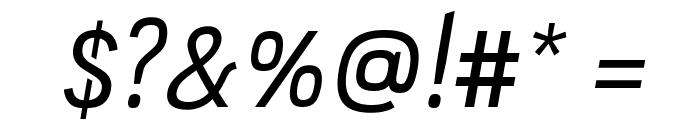 PC Navita Regular-Oblique Font OTHER CHARS
