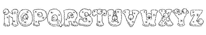 PC Snowballs Font UPPERCASE