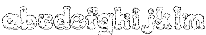 PC Snowballs Font LOWERCASE