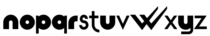 pdW Font LOWERCASE