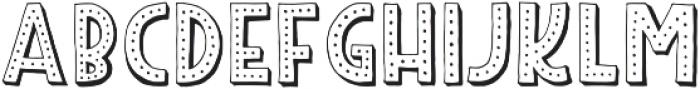 Peabo Regular otf (400) Font UPPERCASE