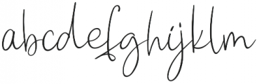 Peach Blush otf (400) Font LOWERCASE