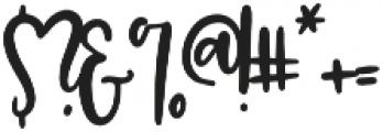 Peach Bourbon by OTSS otf (400) Font OTHER CHARS