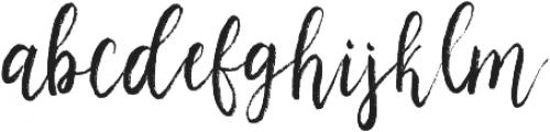 Peachy sky otf (400) Font LOWERCASE