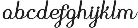 Pedrera Script Bold otf (700) Font LOWERCASE