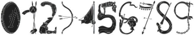 Pegacorn Initials Filled otf (400) Font OTHER CHARS