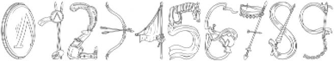 Pegacorn Initials Line otf (400) Font OTHER CHARS