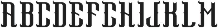 PegasusFont Regular otf (400) Font UPPERCASE