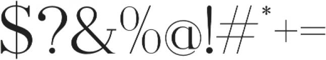 Pellago Text Light otf (300) Font OTHER CHARS