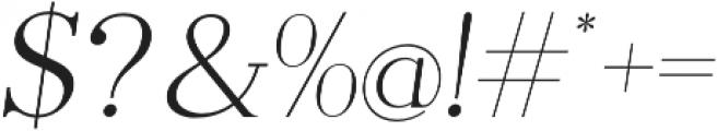 Pellago Text Thin Obl otf (100) Font OTHER CHARS