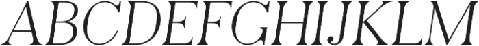 Pellago Text Thin Obl otf (100) Font UPPERCASE