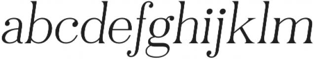 Pellago Text Thin Obl otf (100) Font LOWERCASE