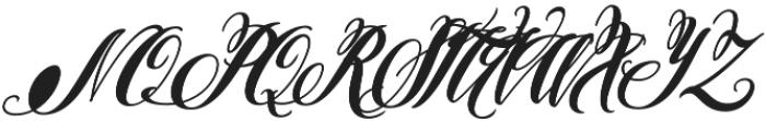 Pen Swan Bold Italic otf (700) Font UPPERCASE