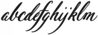 Pen Swan Bold Italic otf (700) Font LOWERCASE