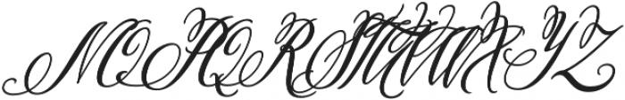 Pen Swan Italic otf (400) Font UPPERCASE