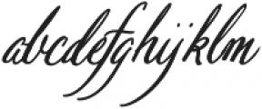 Pen Swan Italic otf (400) Font LOWERCASE