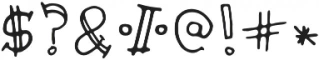 Pencil Doodle Regular otf (400) Font OTHER CHARS