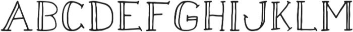 Pencil Doodle Regular otf (400) Font UPPERCASE