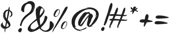 Pennello Script otf (400) Font OTHER CHARS