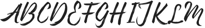 Pennello Script otf (400) Font UPPERCASE