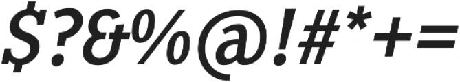 Pentay Regular Italic otf (400) Font OTHER CHARS