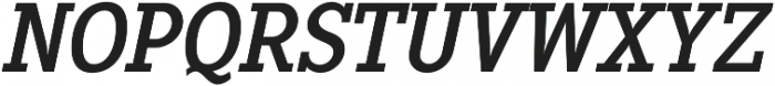 Pentay Regular Italic otf (400) Font UPPERCASE
