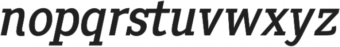Pentay Regular Italic otf (400) Font LOWERCASE
