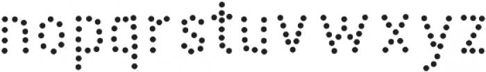 Peperoncino Sans Dots otf (400) Font LOWERCASE