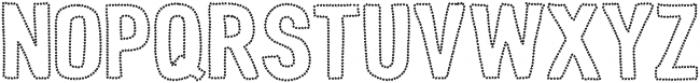 Peperoncino Sans Stars otf (400) Font UPPERCASE