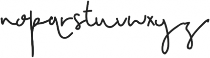PerfectImperfection Regular otf (400) Font LOWERCASE