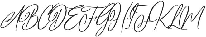 Perfectly Script otf (400) Font UPPERCASE
