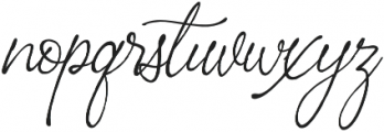 Perfectly Script otf (400) Font LOWERCASE