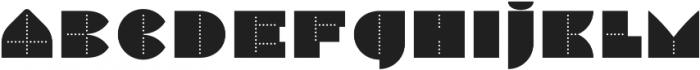 Perfopunto 4F Regular otf (400) Font UPPERCASE