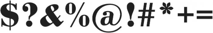 Pergamon Bold otf (700) Font OTHER CHARS