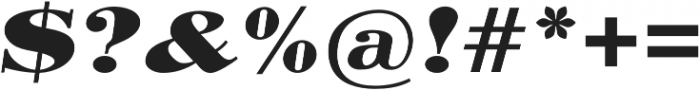 Pergamon Ext Bold Italic otf (700) Font OTHER CHARS