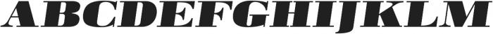 Pergamon Ext Bold Italic otf (700) Font UPPERCASE