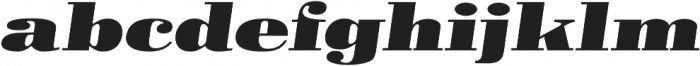Pergamon Ext Bold Italic otf (700) Font LOWERCASE
