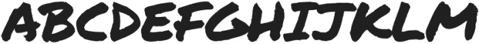 Permanent Marker Pro Regular otf (400) Font UPPERCASE