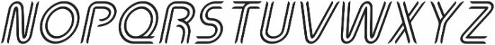 Perneon Italic otf (400) Font UPPERCASE