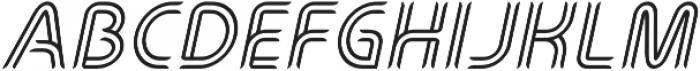Perneon Italic otf (400) Font LOWERCASE