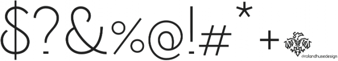 Personalitype otf (400) Font OTHER CHARS