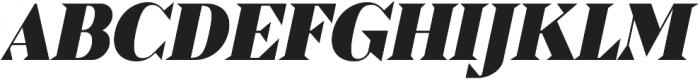 Pervinca Family ExtraBlack Italic otf (900) Font UPPERCASE