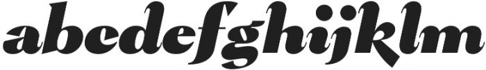 Pervinca Family ExtraBlack Italic otf (900) Font LOWERCASE