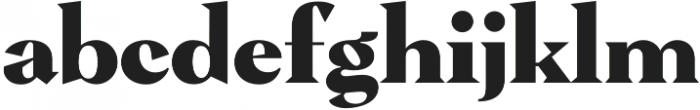 Pervinca Family ExtraBold otf (700) Font LOWERCASE