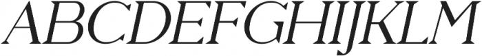 Pervinca Family Light Italic otf (300) Font UPPERCASE