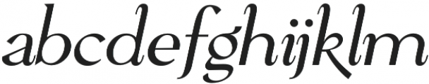 Pervinca Family Light Italic otf (300) Font LOWERCASE