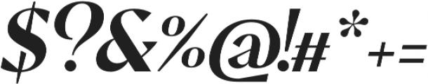 Pervinca Family Medium Italic otf (500) Font OTHER CHARS