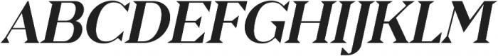 Pervinca Family Medium Italic otf (500) Font UPPERCASE